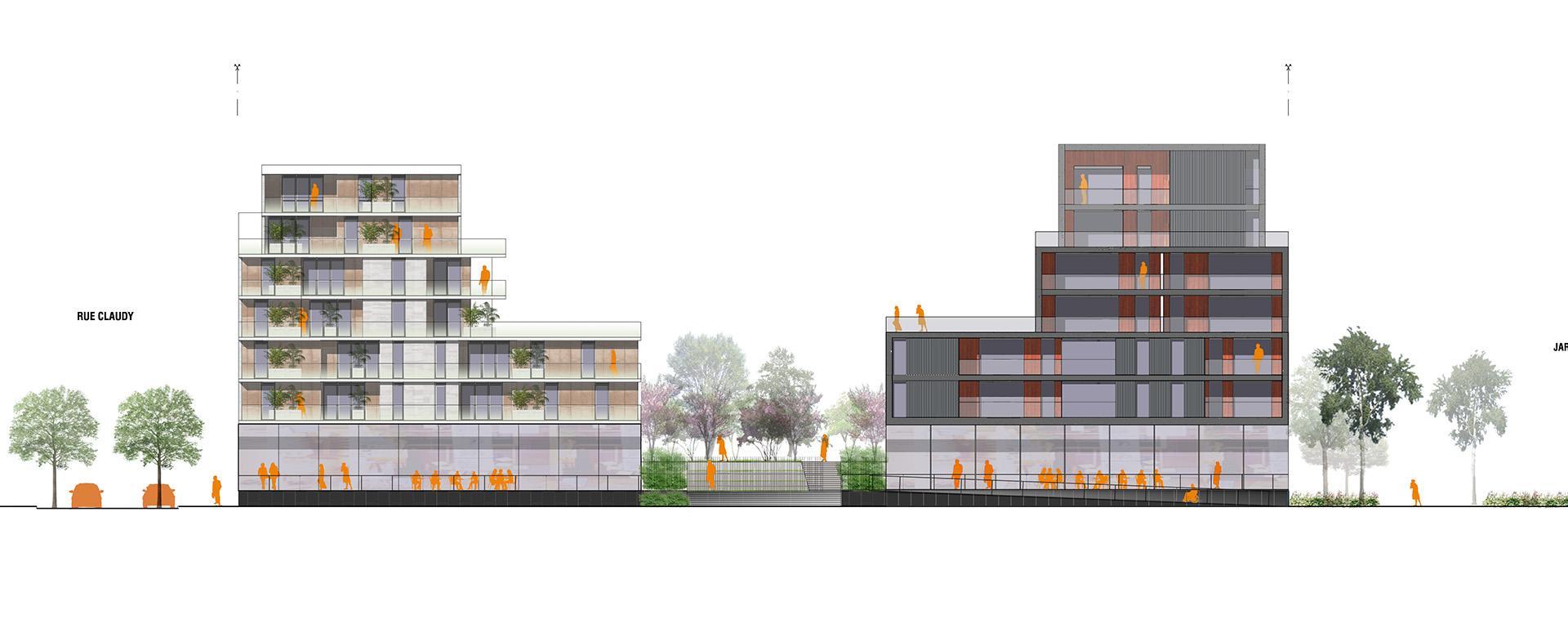Vaise - Industrie - Ilot 4 (Atelier Régis Gachon Architecte)