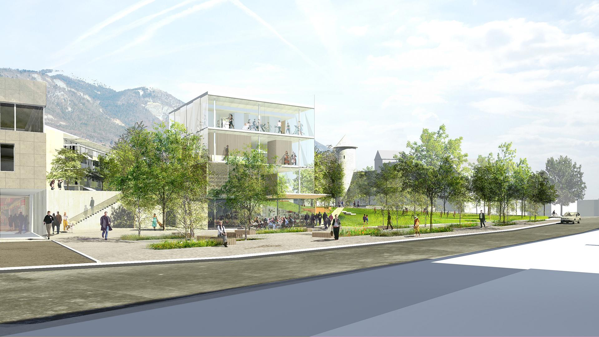 Site Hôpital de Bonneville (Atelier Régis Gachon Architecte)